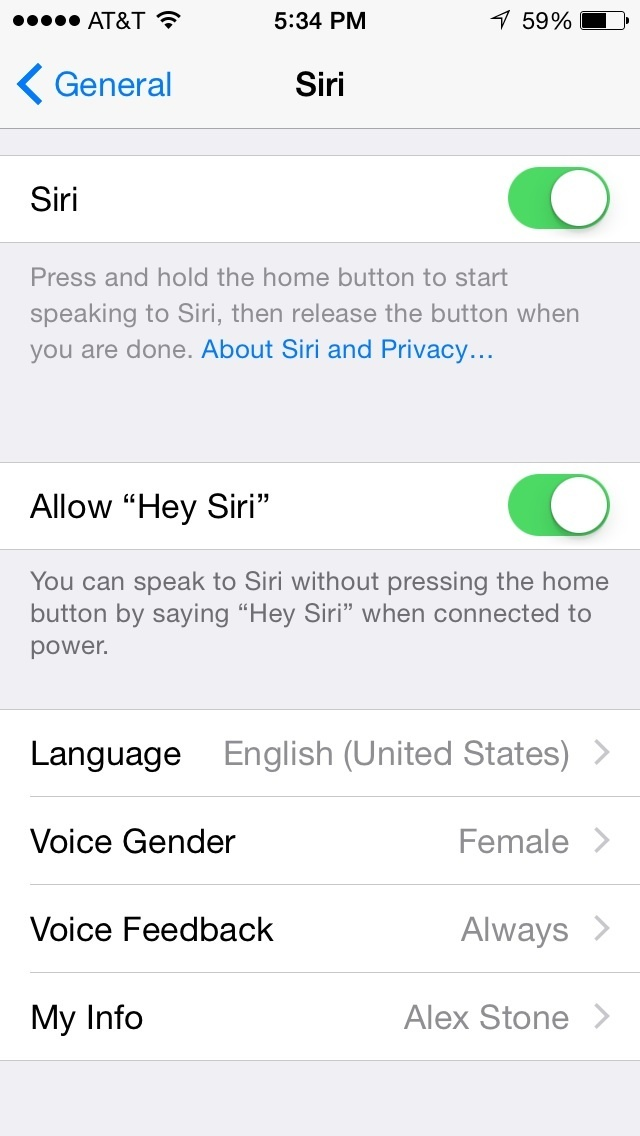 Activeer Siri, handsfree