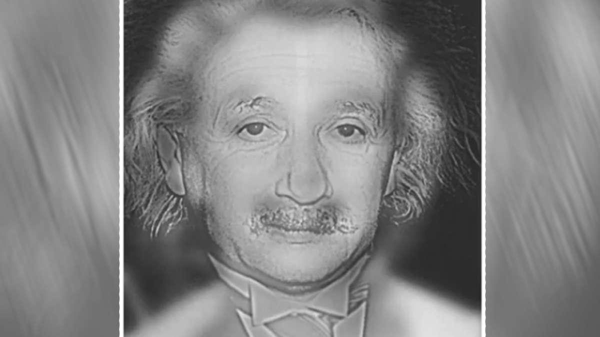 Wie zie jij in dit beeld: Einstein of Marilyn?