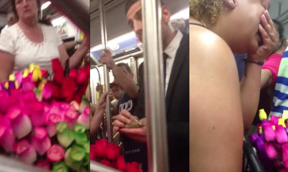 Deze man spendeert $140 aan rozen, maar wat hij dan doet zal je dag met een glimlach doen beginnen