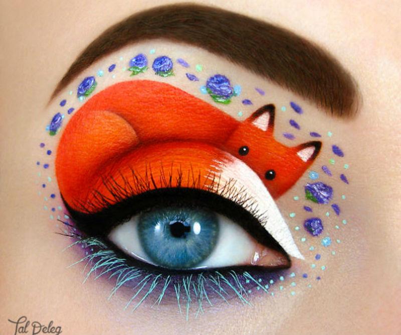 Kunstenares gebruikt haar ogen om prachtige kunstwerken te maken