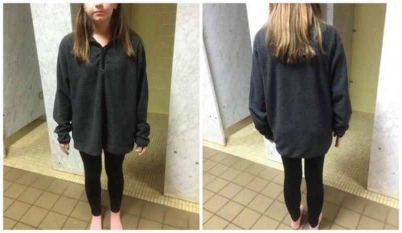 Weer een meisje naar huis gestuurd om 'ongepaste' outfit. Maar háár moeder nam het geniaal voor haar op!