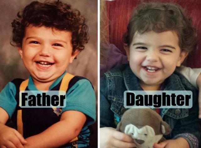 Foto's van ouders en hun kinderen waar je steil van achterover slaat