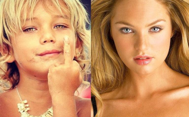 Je zult niet geloven hoe deze 17 topmodellen er uit zagen als kind