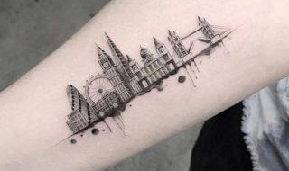 Londen geïnspireerde tatoeages